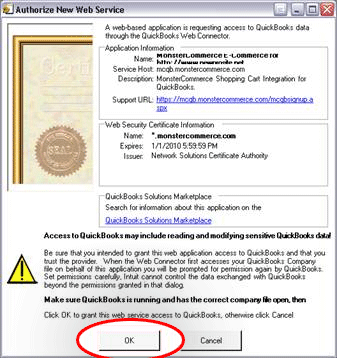 qbsync-web connection