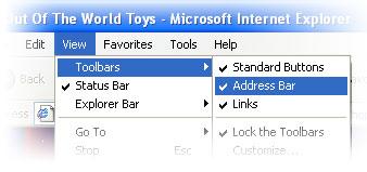 address bar