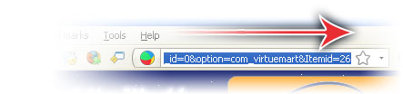 select the complete url